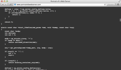 Portrait of a Web Server